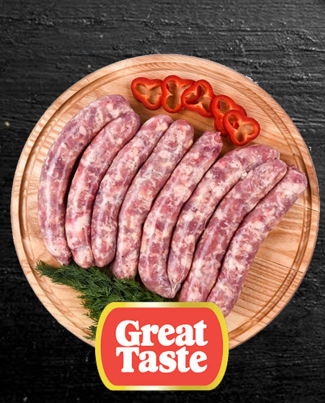 pork gruyere sausages