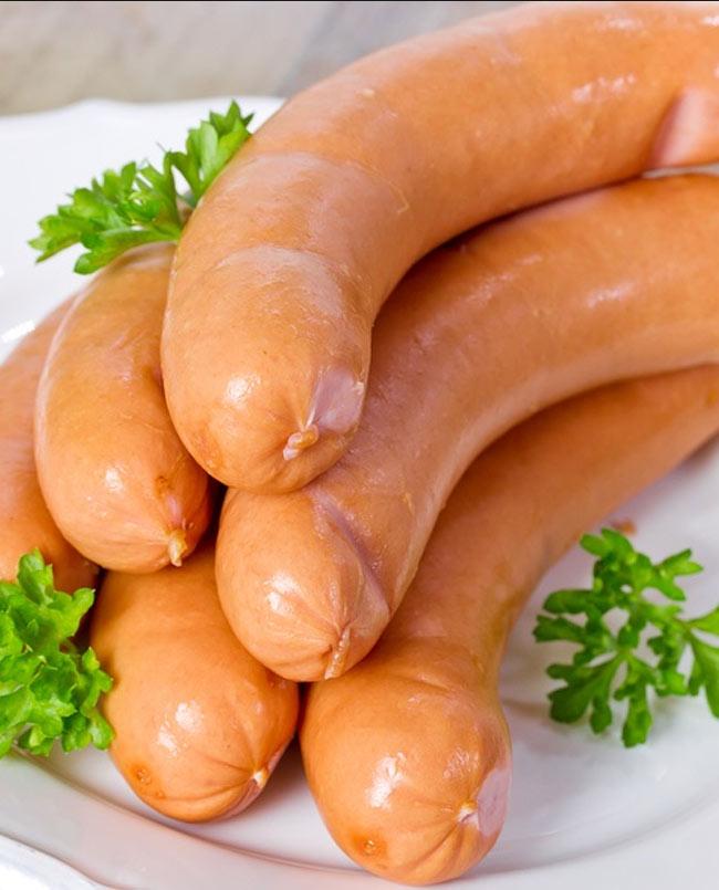 frankfurter sausages extra fat