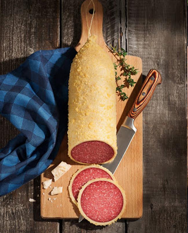 German Salami with Parmesan Cheese
