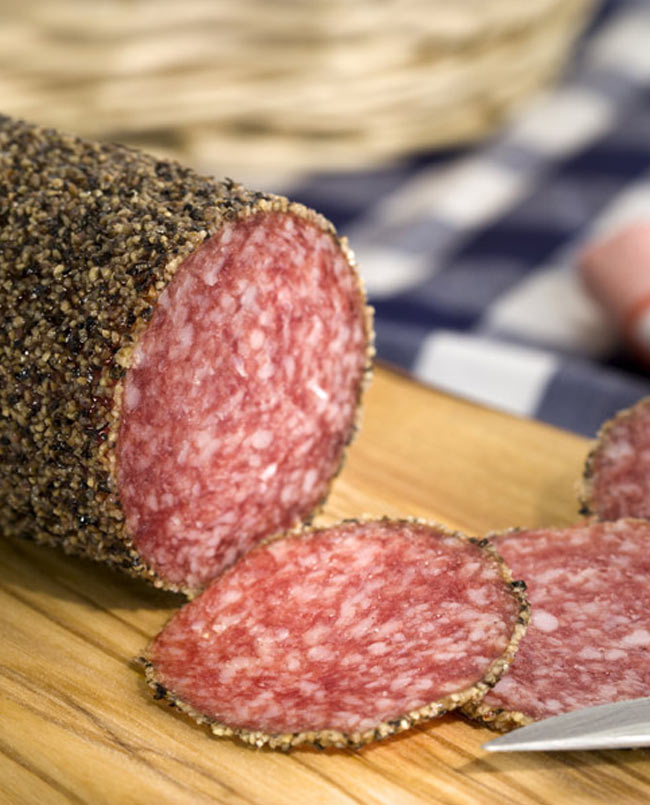 german peppered salami