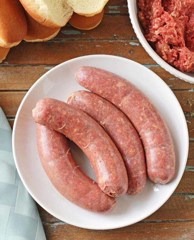 New Bratwurst Sausages