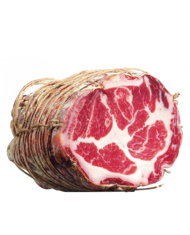 Coppa air-dried neck of pork