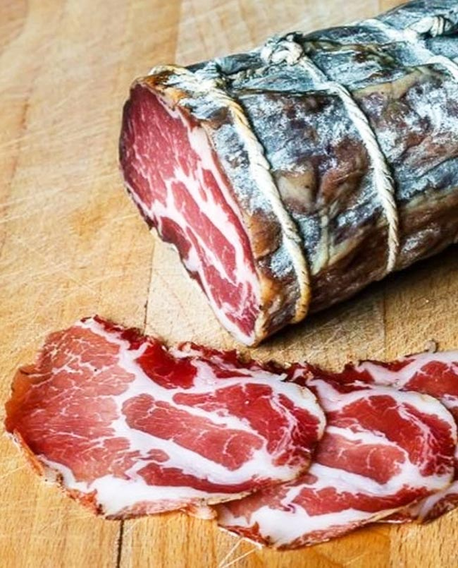 Coppa air-dried neck of pork