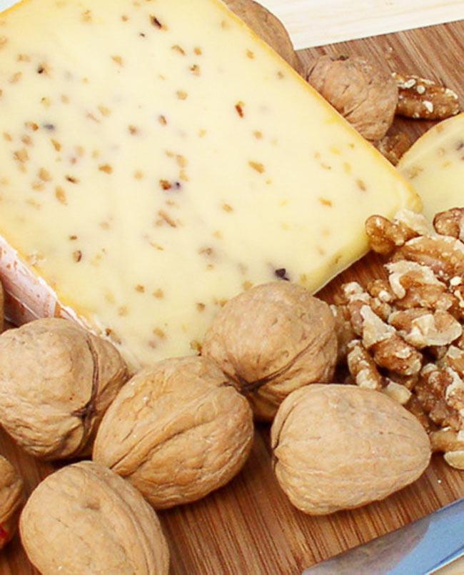 Walnut Gouda cheese